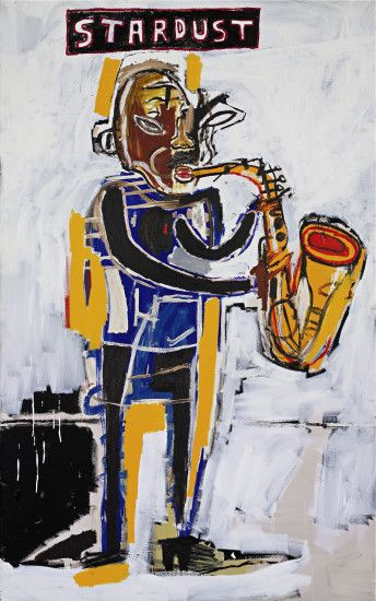 "thesobsister: Jean-Michel Basquiat, ""Untitled (Stardust)"" I'll call that  Lester Young so you can enjoy his lovely version of the title tune."