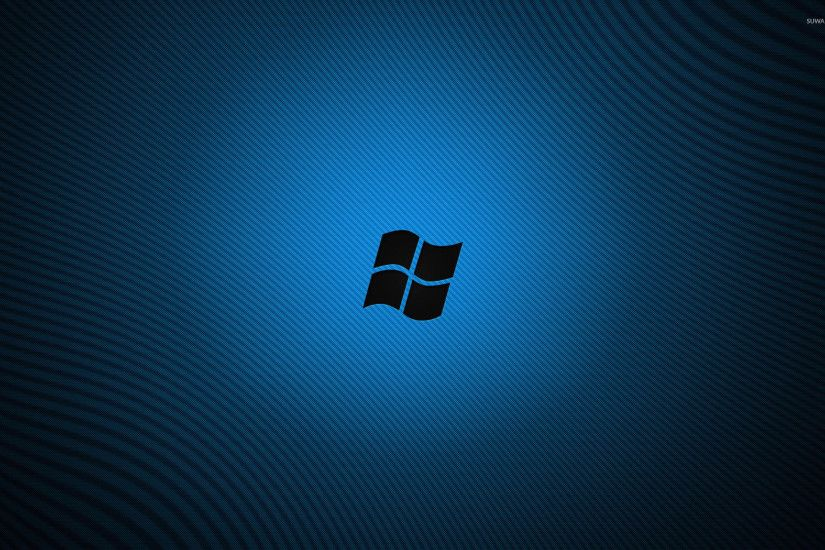 Black Windows logo wallpaper
