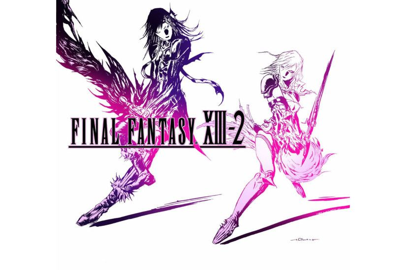 Final Fantasy XIII-2 Logo Wallpaper
