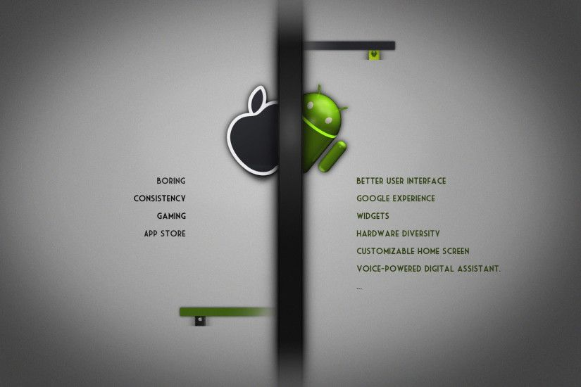 ... Android vs Apple wallpaper 1920x1080 ...