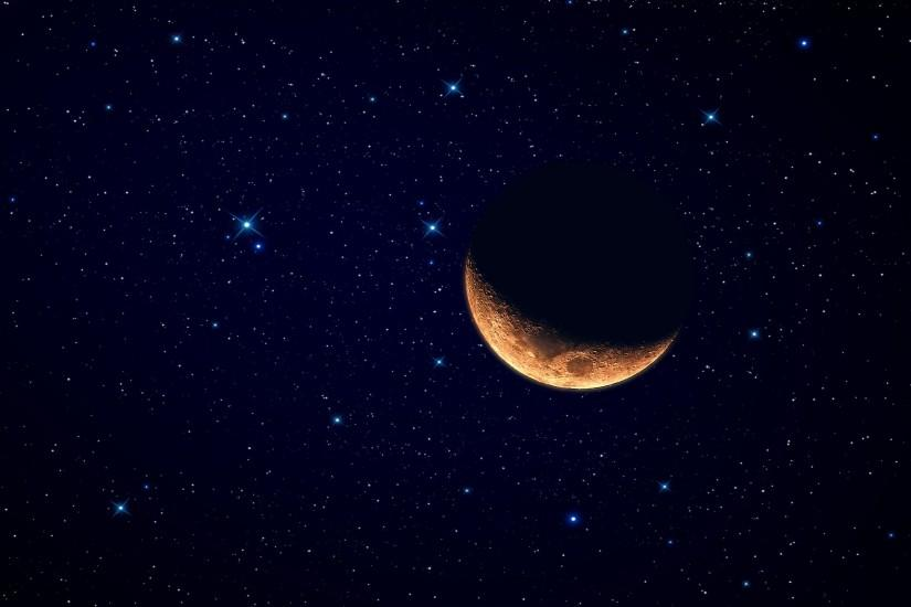 Red Moon Starry Sky wallpapers | Red Moon Starry Sky stock photos