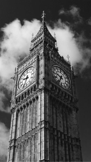 Big Ben London Black And White iPhone 6 Plus HD Wallpaper ...