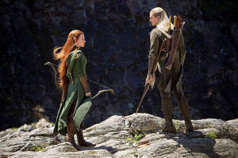 The Hobbit, Tauriel, Legolas, Redhead, Movies, Evangeline Lilly, Orlando  Bloom, The Hobbit: The Desolation of Smaug HD Wallpapers / Desktop and  Mobile ...