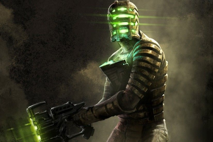 digital Art, Glowing, Men, Gun, Video Games, Dead Space, Dead