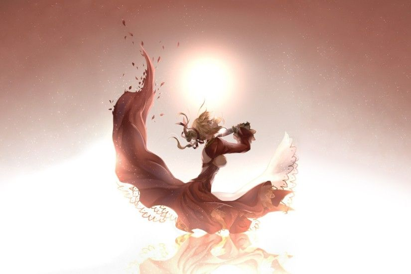 Anime Knife Cry Sad Dress Sunlight mood dark wallpaper | 2560x1440 | 91286  | WallpaperUP