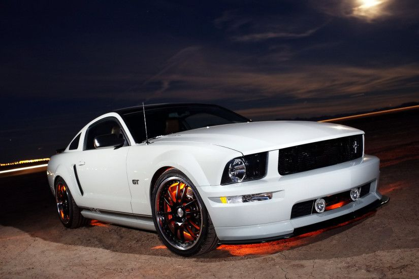 White for GT mustang supercars HD | Cars Background Wallpapers HD