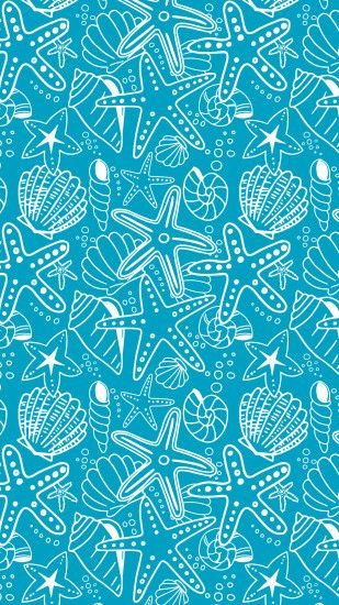 Jul 26 Seashells and Starfish - Wallpaper