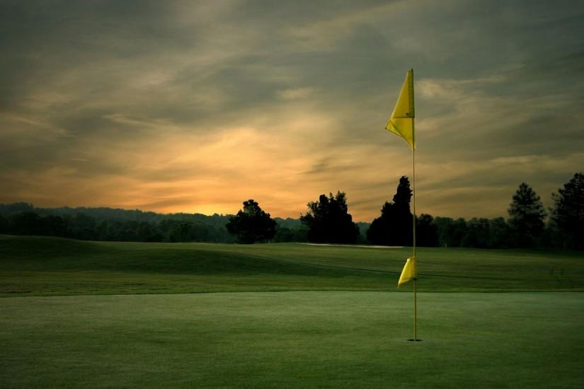Golf flagpole sunset 1920x1200 Wallpapers, 1920x1200 Wallpapers .