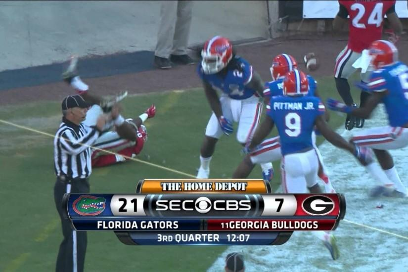 Florida Gators at #11 Georgia Bulldogs 2014 Full Game cfedit UF UGA -  YouTube