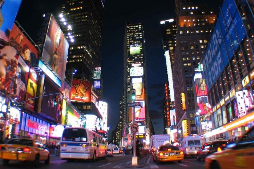 1920x1080 Wallpaper new york, city, night, lights, times square