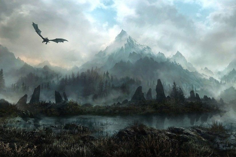 Skyrim Background Wallpaper For Desktop - Popomypics.com