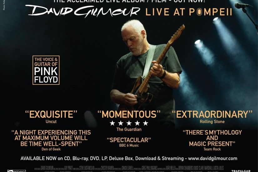 "David Gilmour on Twitter: ""Discover what the critics are raving about -  David's #LiveAtPompeii live film / album is out now on CD, Blu-Ray, DVD,  LP, ..."