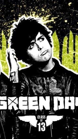 Green Day poster iPhone 7 wallpaper