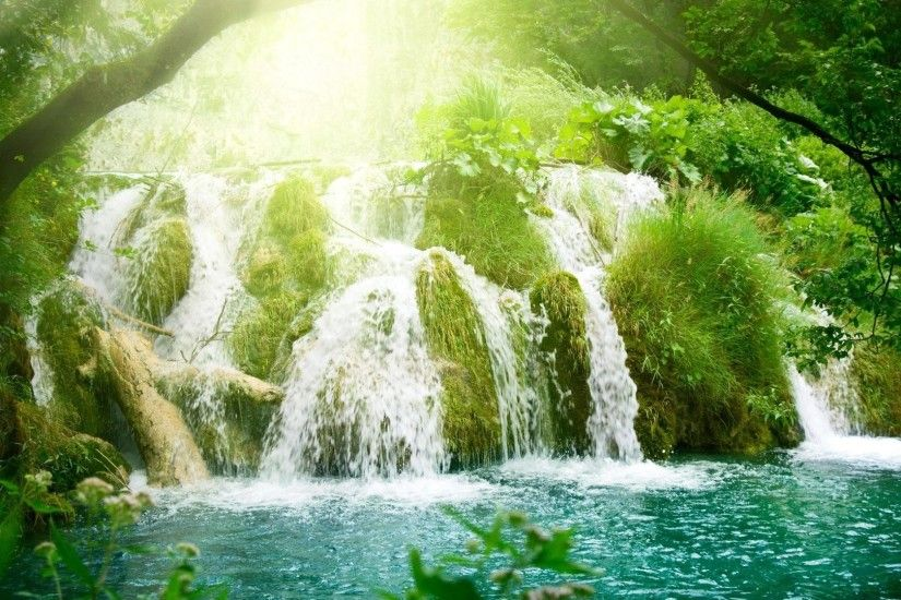 1920x1080 Amazing Forest waterfall and rivers background wide  wallpapers:1280x800,1440x900,1680x1050 -
