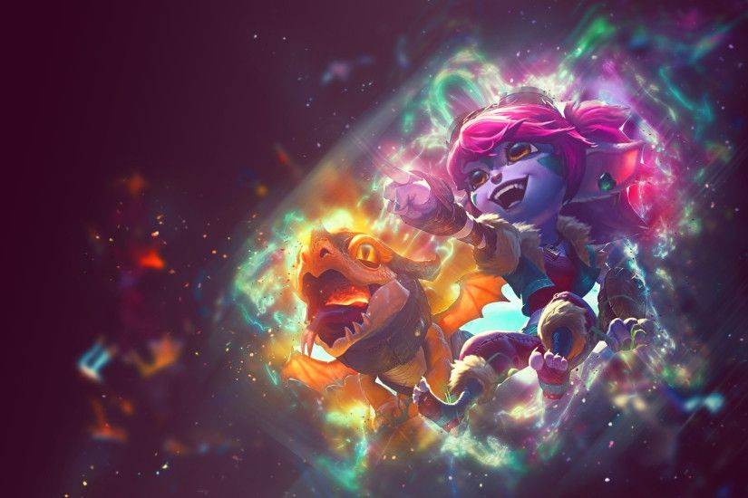 Dragon Trainer Tristana Wallpaper by hailongg Dragon Trainer Tristana  Wallpaper by hailongg