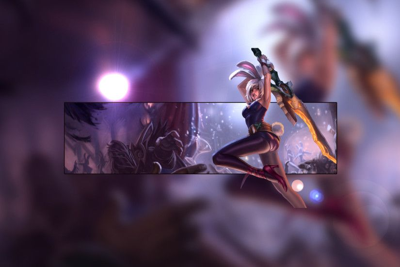 Battle Bunny Riven by Insane HD Wallpaper Fan Art Artwork League of Legends  lol