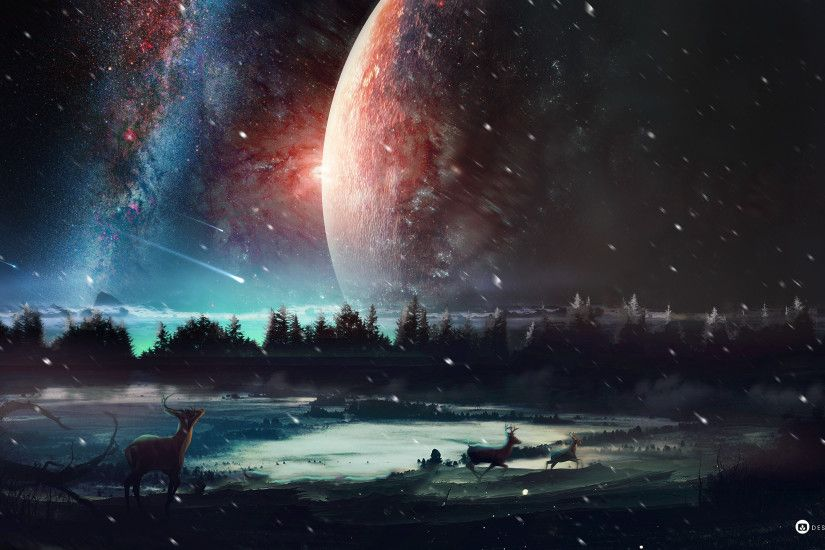 Space/Fantasy Wallpaper Set 74