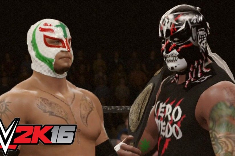 WWE 2K16: Pentagon Jr vs Rey Mysterio (Lucha Underground Championship)  (EPIC MATCH) - YouTube