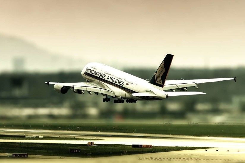 Airbus A380 Singapore Airlines Landing HD Wallpaper. Â«
