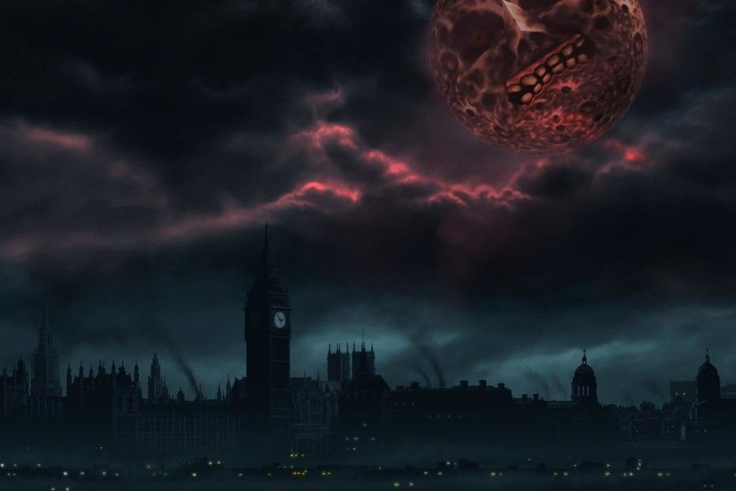 Made a London themed Majora's Mask wallpaper because end of the world and  all that