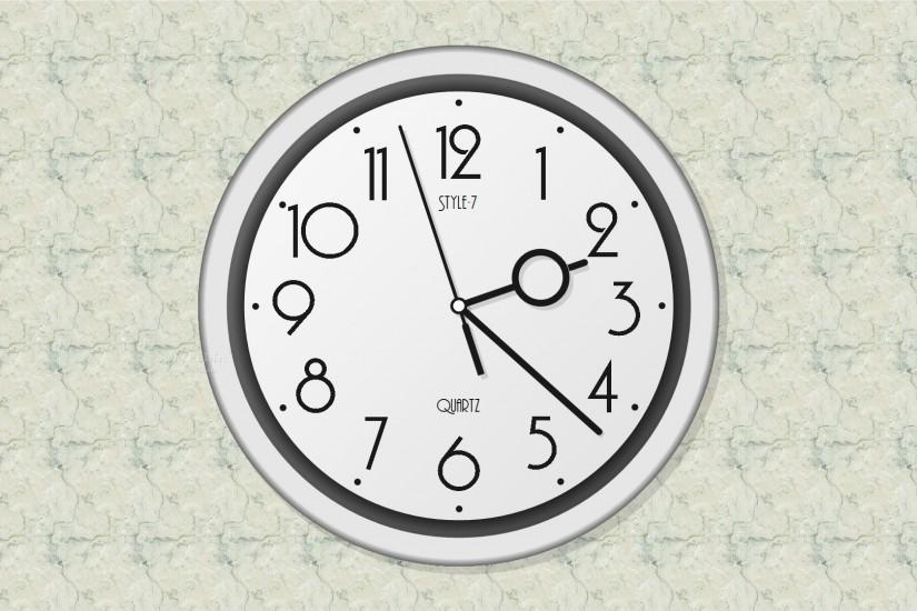 Активные обои для рабочего стола с часами и календарем