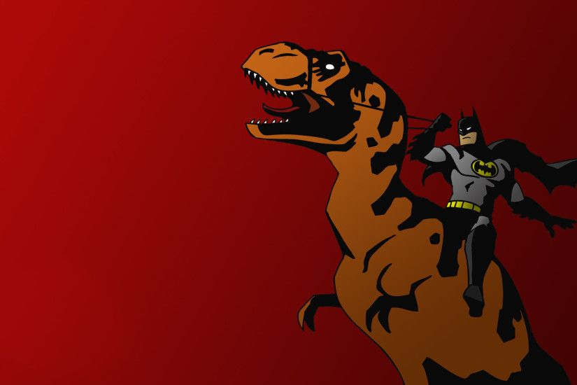 Batman Riding T-Rex