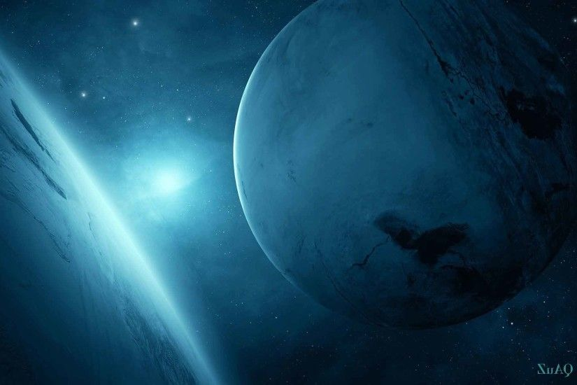 Space Blue Planet Sci Wallpaper Nature Scenes Free Download