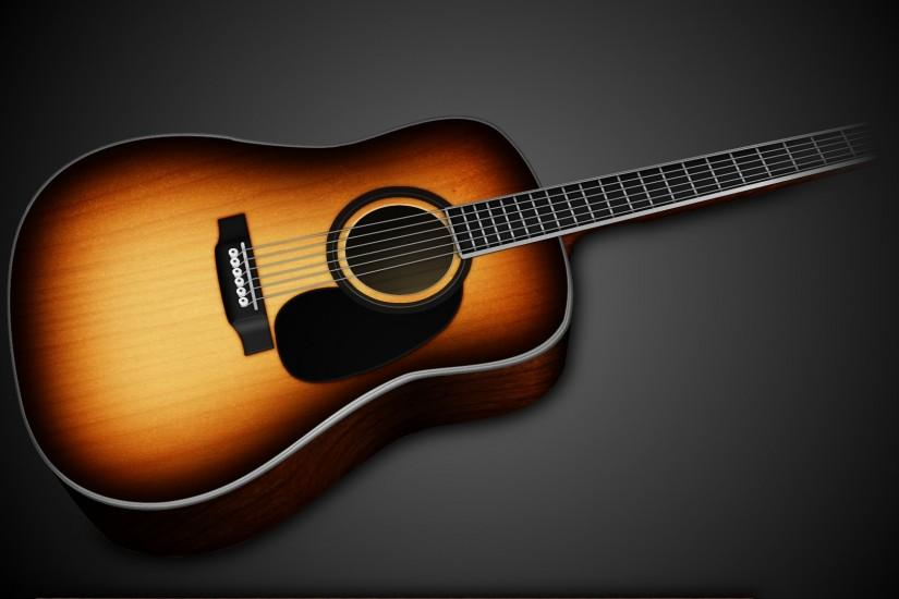 full size acoustic guitar wallpaper 1920x1080 for phone