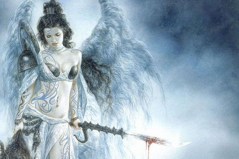 Luis Royo images Angel Warrior HD wallpaper and background photos