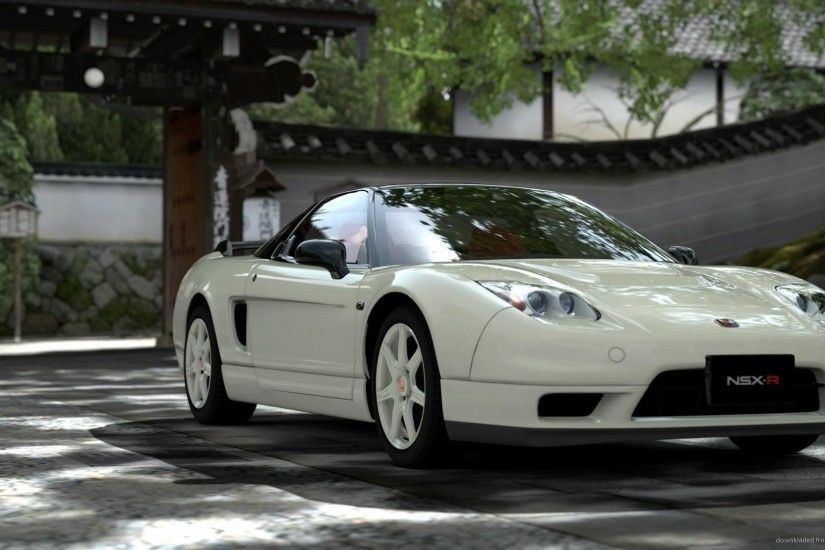 2002 White Standing Honda NSX Type R picture