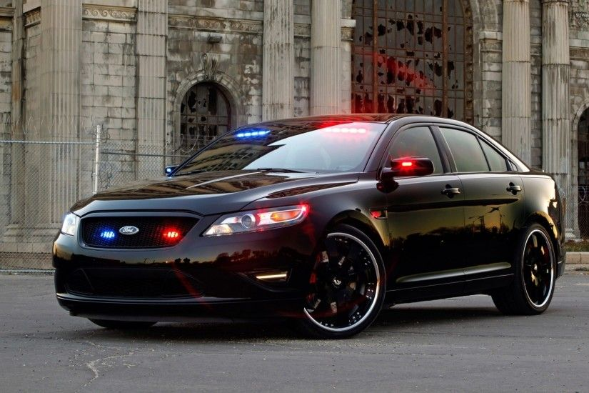 Ford Taurus police car wallpaper