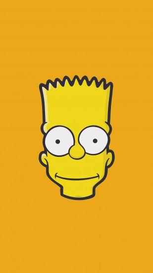 Bart Simpson Face Illust Art Yellow Minimal Simple #iPhone #7 #wallpaper