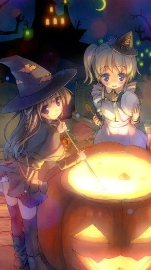 Anime Halloween 2013.Magic THL W9 wallpaper.1080x1920