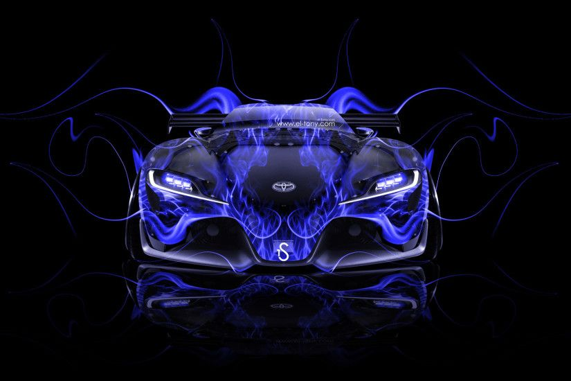 ... Toyota-FT-1-Tuning-Front-Blue-Fire-Car- ...