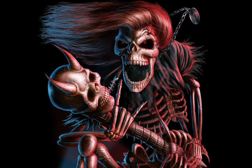 hd pics photos 3d skull guitar music hd quality desktop background wallpaper