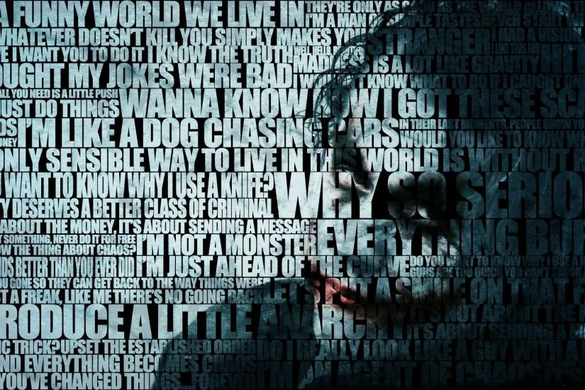 Batman The Dark Knight Heath Ledger Movies Quotes Joker
