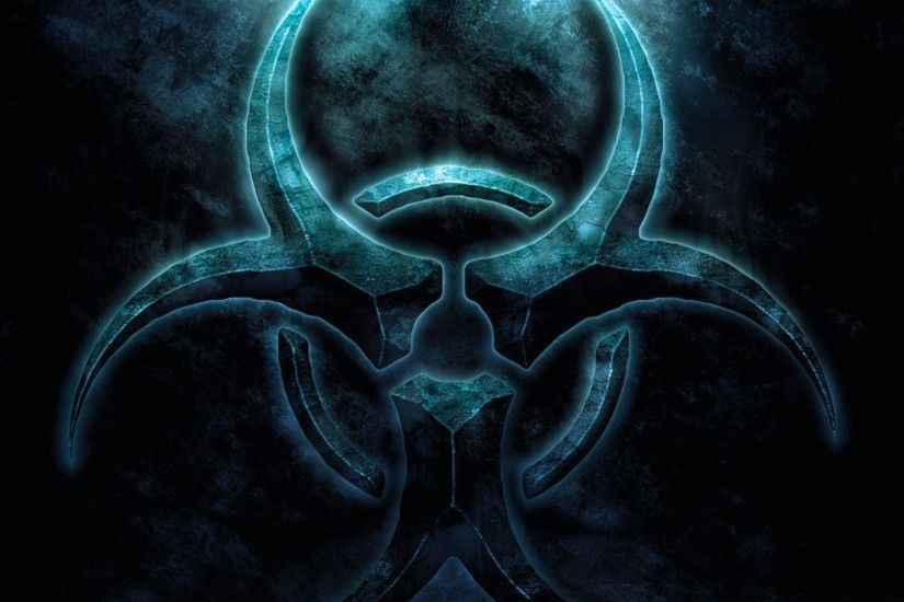 Biohazard Wallpaper : Blue biohazard symbol wallpaper allwallpaper.in #3816  pc en