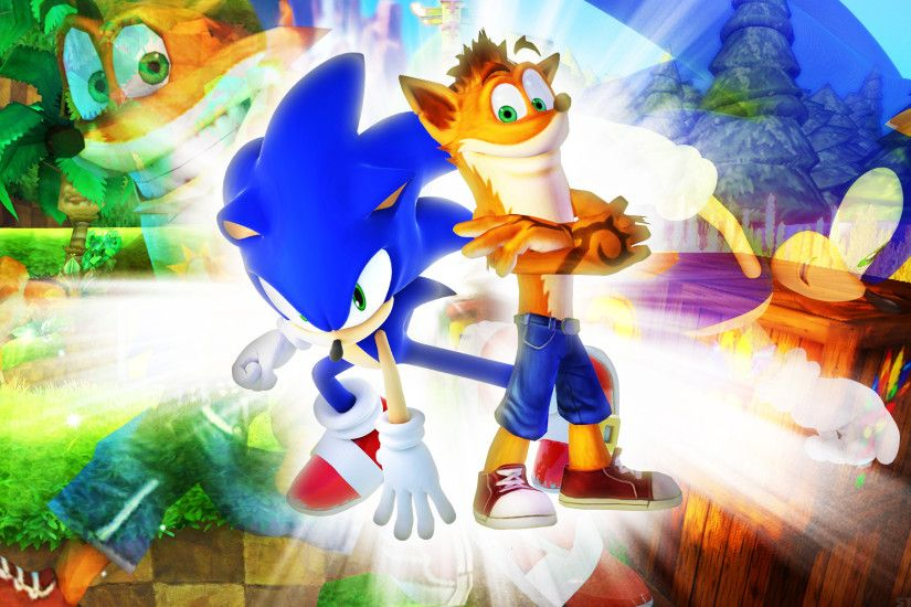 ... SonicTheHedgehogBG Sonic The Hedgehog And Crash Bandicoot - Wallpaper  by SonicTheHedgehogBG