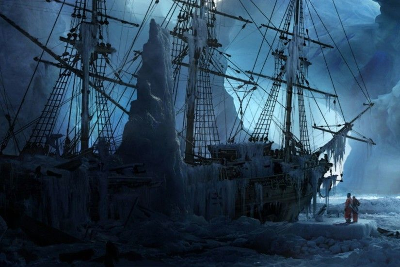 ... Fantasy Ship 1080p Wallpaper