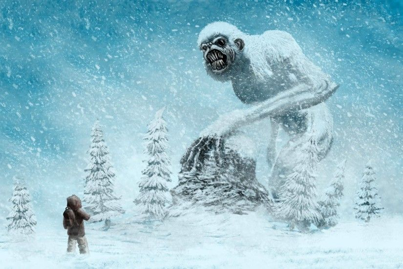 We always effort to show a picture with HD resolution or at least with  perfect images. Supernatural Beings Monster Yeti Snow Fantasy Wallpaper ...