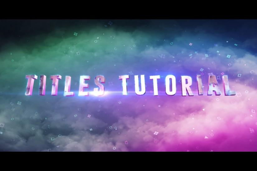 After Effects Tutorial : Suicide Squad TITLES Recreation ( Element 3D and  Particular )