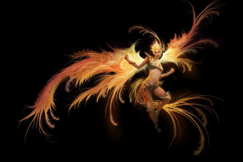 Phoenix Bird of Fire Wallpaper Phoenix,bird,fire,woman