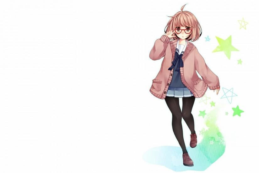 Kuriyama Mirai Kyoukai no Kanata Beyond Boundary Anime Girl Glasses Seifuku  FullHD Wallpaper