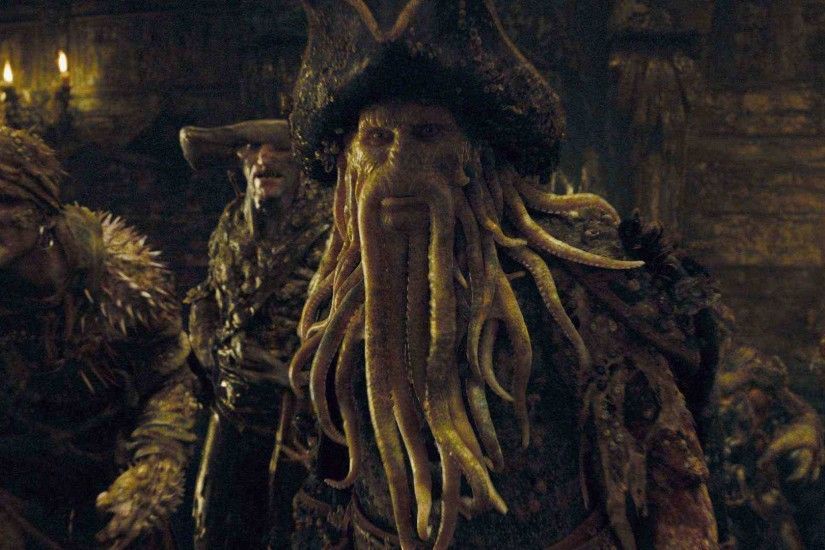 Davy Jones (Bill Nighy) and The Flying Dutchman Crew