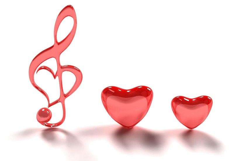 Cute Red Love Heart Wallpaper background.