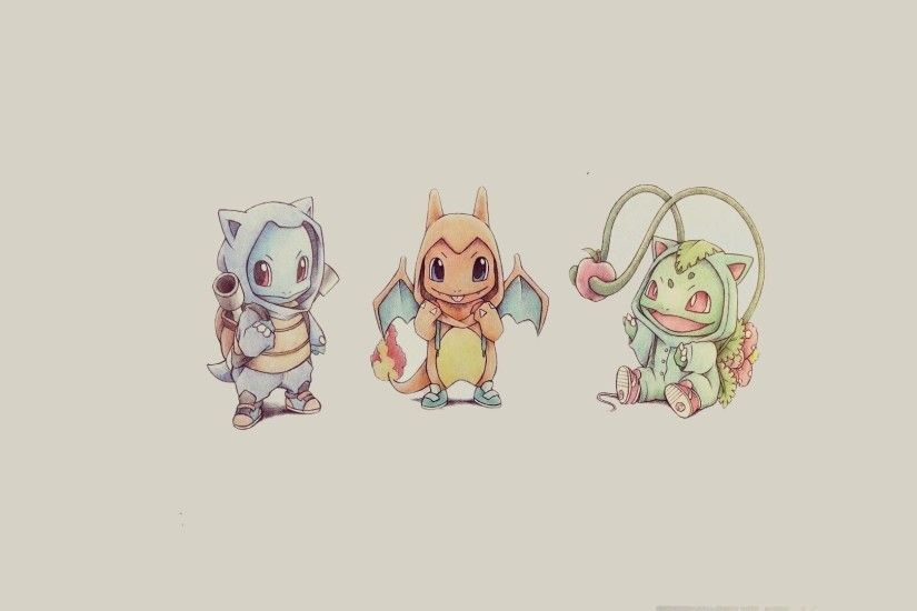 Bulbasaur Squirtle And Charmander - Pokemon ...