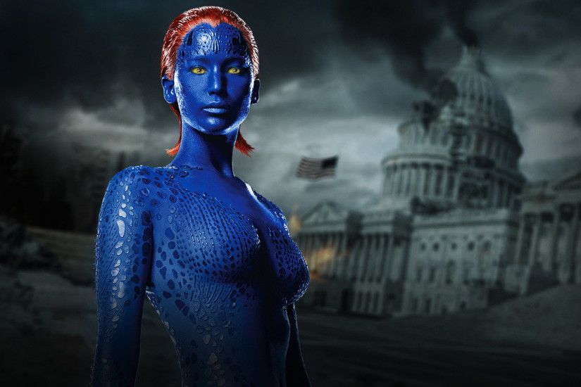 jennifer lawrence as mystique / raven in x men days of future past