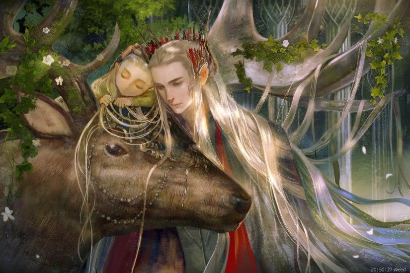 Movie Fantasy The+hobbit Lord+of+the+rings Legolas Long Hair Animal Flower  Wallpaper At Fantasy Wallpapers