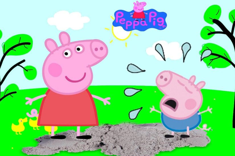 Peppa Pig & George Pig Playing Jumping & Crying Role Play Toy Episode Video  - YouTube