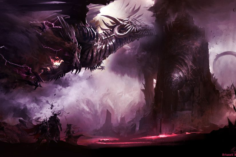 GW2 Dragon 1080p Wallpaper by AngelicBond GW2 Dragon 1080p Wallpaper by  AngelicBond